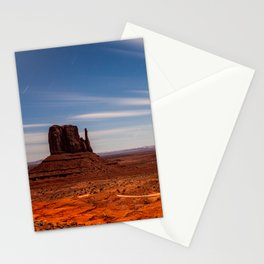 Bright Night at Monument Valley Stationery Cards
