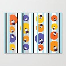 Circles, Stripes & Zombie Matt - Pattern Canvas Print