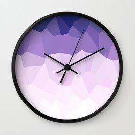 Purple Watercolor Crystals Wall Clock