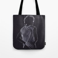 louis tomlinson Tote Bags featuring Louis Tomlinson by Jen Eva