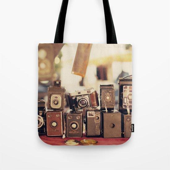 Old Cameras (Vintage and Retro Film Cameras Collection) Tote Bag