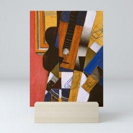 """Juan Gris """"Guitar and Pipe""""(light) Mini Art Print"""