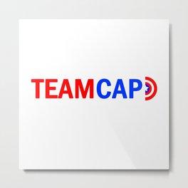 Team Cap Metal Print