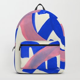 Tribal Pink Blue Fun Colorful Mid Century Modern Abstract Painting Shapes Pattern Backpack