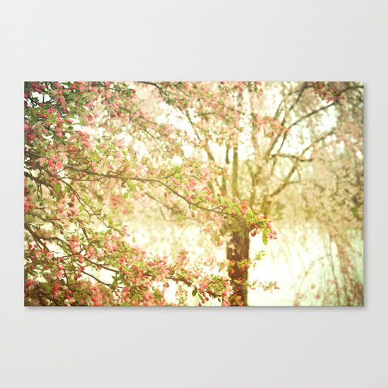 She Dreamed of Flowers in Her Hair Canvas Print