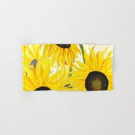 sunflower watercolor 2017 Hand & Bath Towel