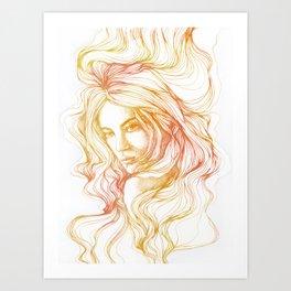 flow line Art Print