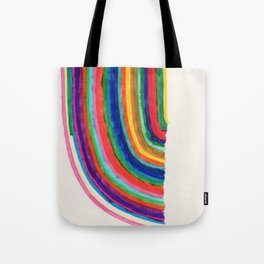 Curved Stripes Tote Bag