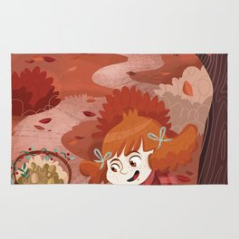 Autumn time | Giadina and mushrooms Rug