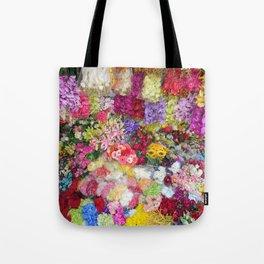 Vibrant Flower Garden Tote Bag