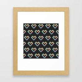 le coeur impossible (pattern) Framed Art Print