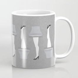Leg Lamp Grey Coffee Mug
