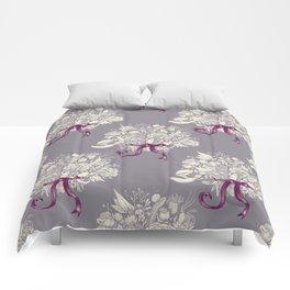 Undersea Victorian - gray Comforters