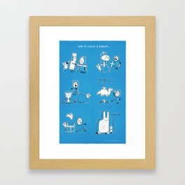 How to catch a knight... Framed Art Print