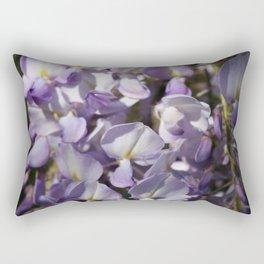 Close Up Of Lavender Wisteria Blossom Rectangular Pillow