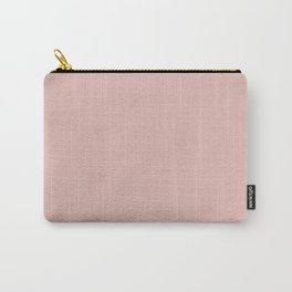 Solid Color Rose Gold Pink Carry-All Pouch