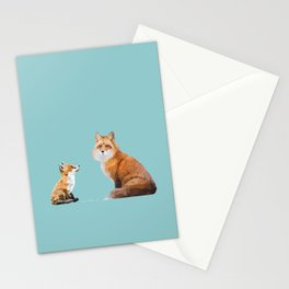 Fox Tenderness Stationery Cards