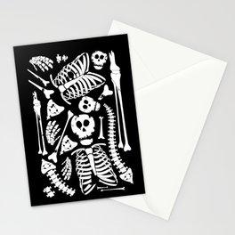 Skeletal Love Heart  (Black) Skulls and Bones Stationery Cards