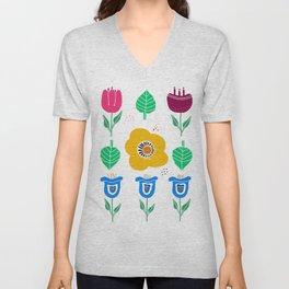 Flowers in springtime  Unisex V-Neck
