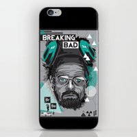 breaking bad iPhone & iPod Skins featuring Breaking Bad by Sophie Bland