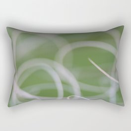 Abstract Image of Green Palm Leaves  Rectangular Pillow