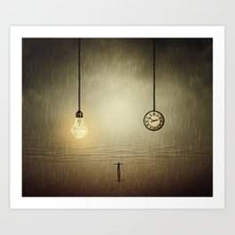 idea and time concepts Art Print