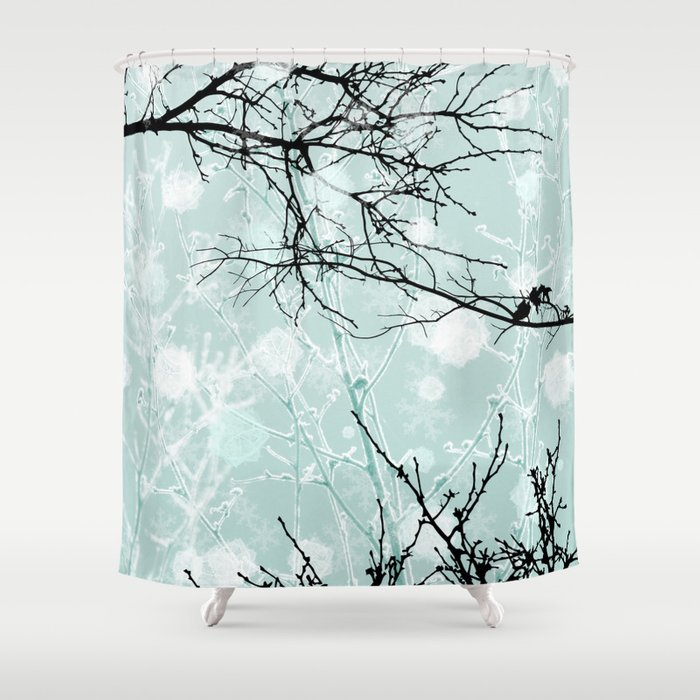 Winter Branches - Graphic Shower Curtain by kestreldesign | Society6