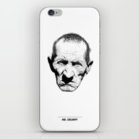 grumpy iPhone & iPod Skins featuring Mr. Grumpy by Tom Kitchen
