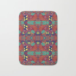 Abstract Geometric Illusion Quilt Bath Mat