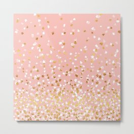 Floating Confetti - Pink II Metal Print
