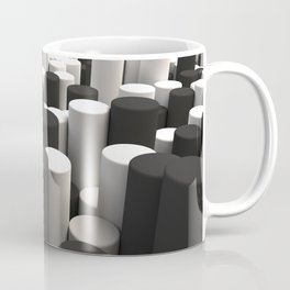 Pattern of black and white cylinders Coffee Mug