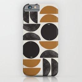 Geometry Shape Mid Century Organic Art Print iPhone Case