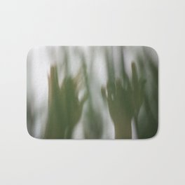 Human body parts hands wrists fingers in nature forest green plants trees dance dancing movement Bath Mat