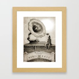 The Chimney Sweep (Monochrome) Framed Art Print