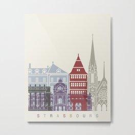 Strasbourg skyline poster Metal Print