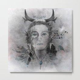Wakanda (Dakota) - A collaboration with Christelle Guilhen Metal Print
