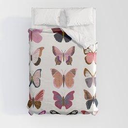 Pink Butterflies Duvet Cover