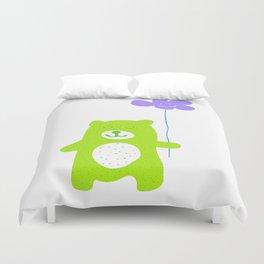 Green bear Duvet Cover