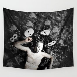 Masks Wall Tapestry