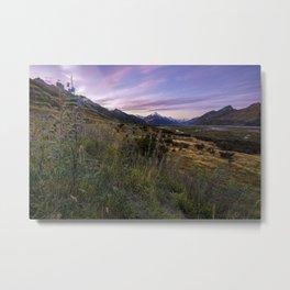 Mount Cook Nightfall Metal Print