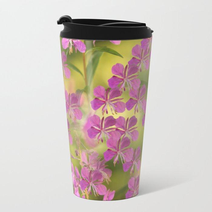 Rosebay Willowherb Flowers #decor #society6 Metal Travel Mug