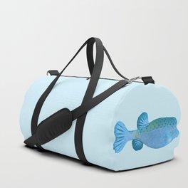 Blue pursed-lip boxfish Duffle Bag