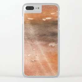 Rosy brown abstract Clear iPhone Case