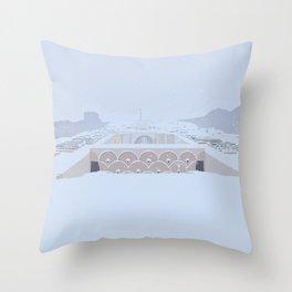 Soviet Modernism: The Yerevan Cascade Throw Pillow
