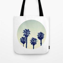 retro palm trees Tote Bag