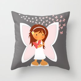 Melomuñequita hada Throw Pillow