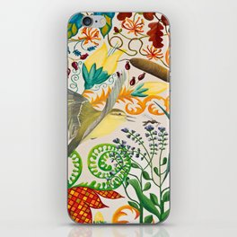 Yellow Wagtail and Mosquito iPhone Skin