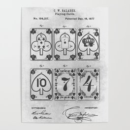 1877 Playing cards Poster