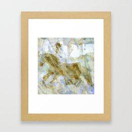 felted cavalcade Framed Art Print