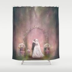 A Happy Beginning Shower Curtain